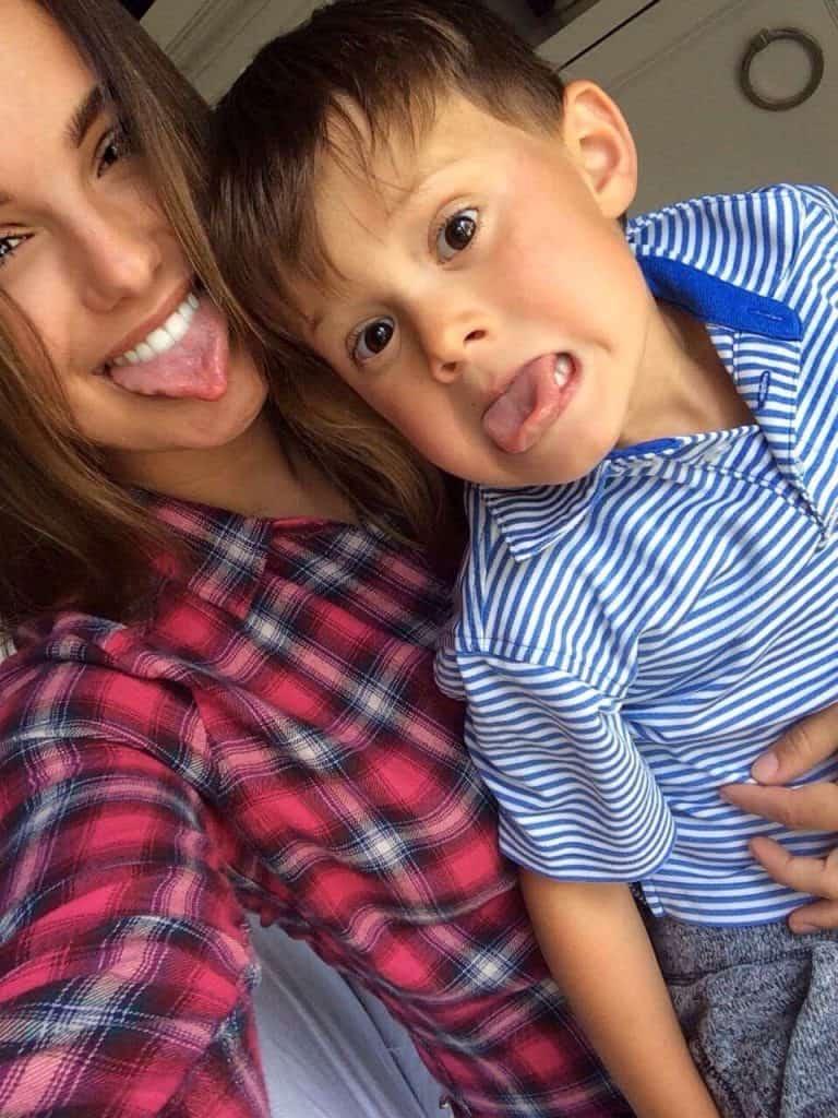 Au Pair with host kid