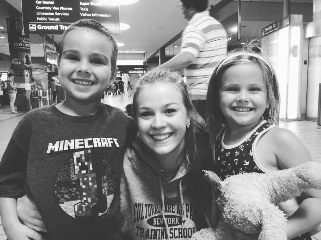 Aliena with host kids