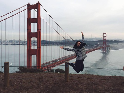 Au Pair at the Golden Gate bridge