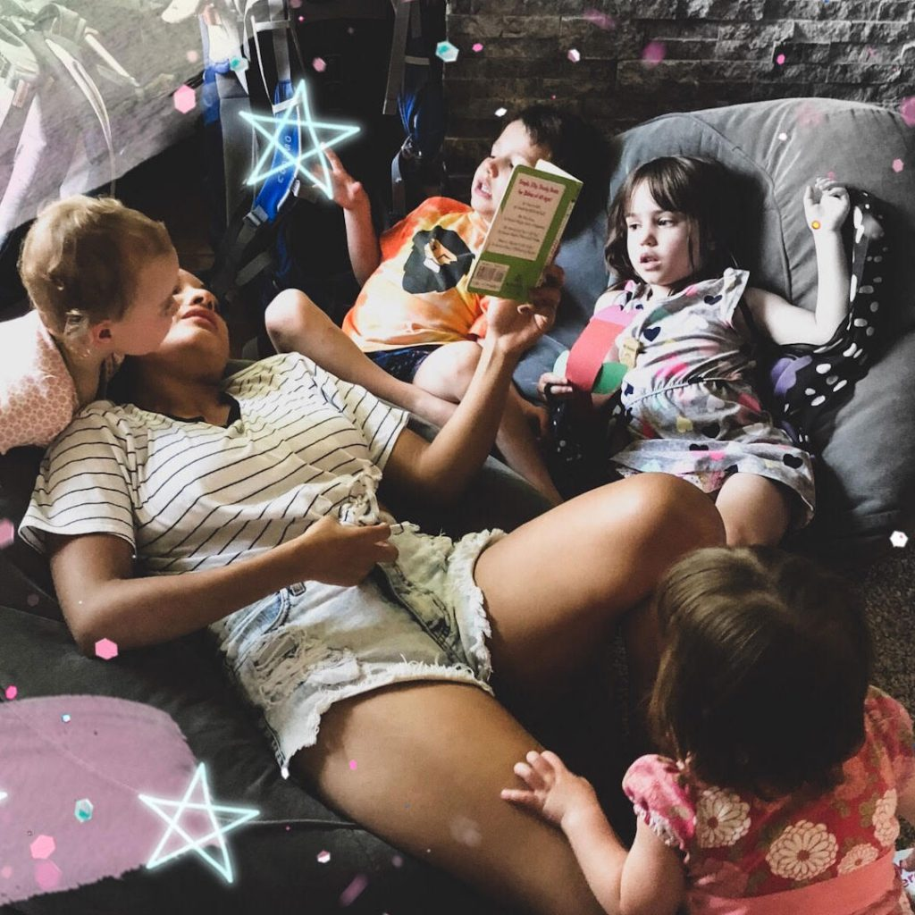 au pair with host kids